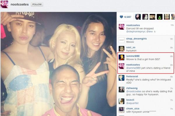 หรือว่าฮโยยอนจาก Girls Generation กำลังมีแฟน?