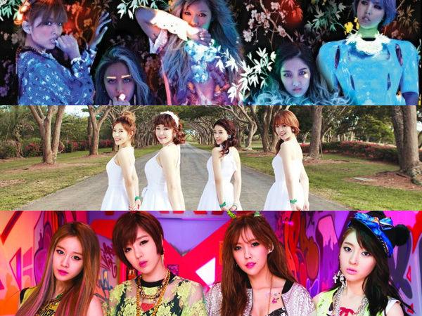 Comeback Stage ของวงไหนที่คุณชื่นชอบมากที่สุดระหว่าง SECRET, T-ara N4 หรือ 4Minute?