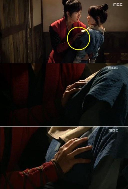 อีซึงกิกับ 'มือที่ซุกซน' ในละคร 'Book of the House of Gu' ที่ทำให้แฟนๆของซูจีเกิดอาการฉุน