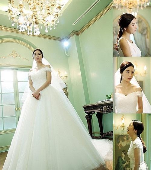 ชินเซคยองโชว์ความงามในชุดแต่งงานจากละครเรื่อง 'When a Man Loves'
