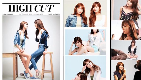 High Cut ปล่อยคลิปวิดีโอเบื้องหลังการถ่ายภาพของซอฮยอนและซูยองจาก SNSD