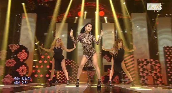 """[Live] อีฮโยริคัมแบ็คในเพลง """"Bad Girls"""" ในรายการ Inkigayo 130526"""