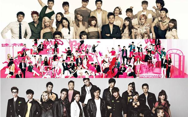 เผยรายได้ครึ่งปีแรกของ SM, JYP และ YG Entertainment ในปี 2013!!
