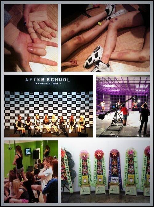 """สมาชิก After School ทำงานกันอย่างหนักจนร่างกายบอบช้ำใน MV เพลง """"First Love"""