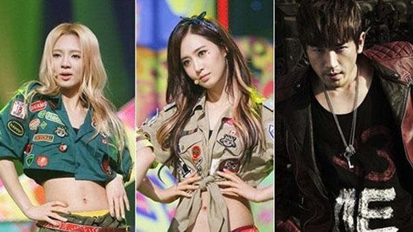 Girls-Generation-Yuri-Hyoyeon-Minwoo Shinhwa-Dancing 9