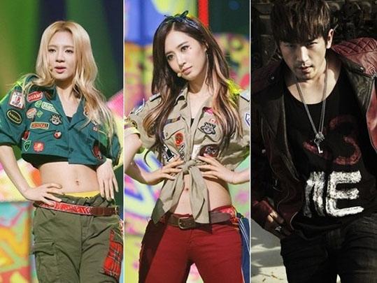 Girls-Generation-Yuri-Hyoyeon-Minwoo Shinhwa