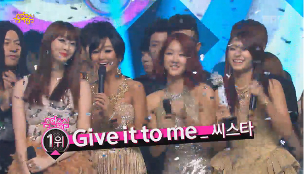 SISTAR Wins Music Core-Give It To Me