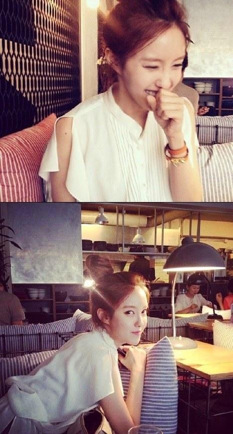 ฮโยมิน T-ara แชร์ภาพอารมณ์ดีของเธอผ่าน Instagram