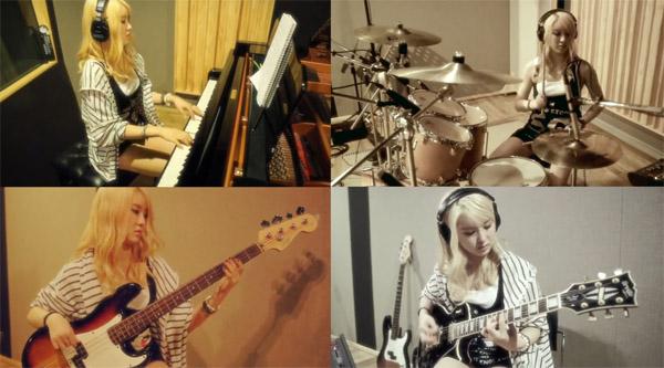 """อียอง After School โชว์ทักษะการเล่นเครื่องดนตรีหลายชนิดในตัวอย่างเพลง """"First Love"""""""