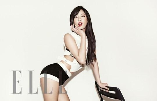 """ฮยอนอา 4Minute โชว์ความเซ็กซี่ร้อนแรงของเธอในนิตยสาร """"ELLE"""""""