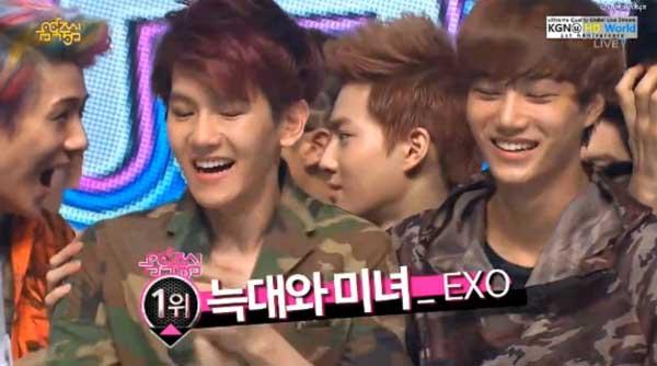 [Live]130615 ผู้ชนะในรายการ Music Core ได้แก่...EXO!!! + การแสดงวันนี้
