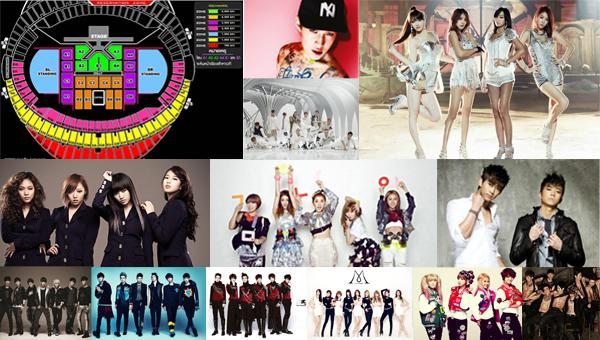 รายละเอียดและรายชื่อศิลปินในงาน 'KBS K-POP WORLD MUSIC FESTIVAL 2013 IN THAILAND'