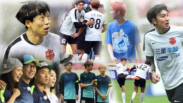 สมาชิก Running Man, มินโฮ SHINee, ลู่หานและซิ่วหมิน EXO-M แข่งฟุตบอลร่วมกับปาร์คจีซอง!!