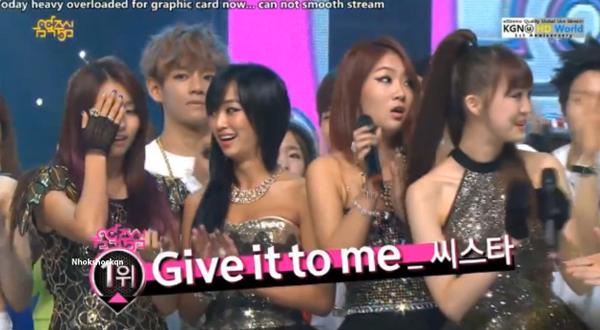 [Live]130622 ผู้ชนะในรายการ Music Core ได้แก่...SISTAR!!! + การแสดงวันนี้
