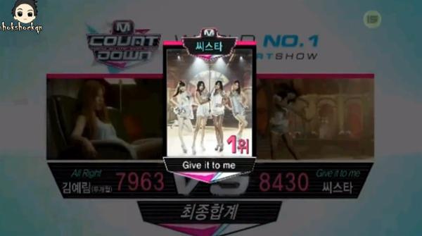 [Live]ผู้ชนะในรายการ M!Countdown ได้แก่...SISTAR!!! + การแสดงวันนี้