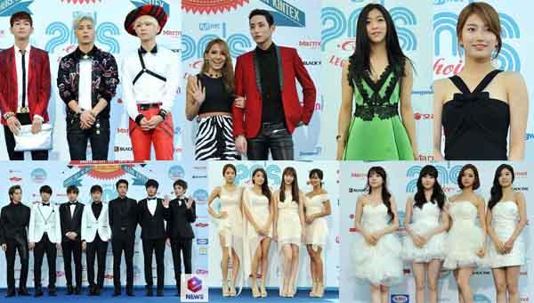 รวมภาพบรรยากาศเดินพรมฟ้าในงาน 2013 ′20′s Choice Awards′