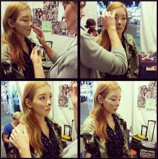 แทยอน Girls Generation กลายเป็นแมวน่ารักในภาพของเธอจาก Instagram