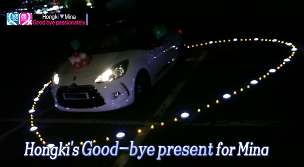 Hongki Goodbye Present for Mina