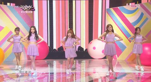 "[Live]A Pink คัมแบ็คด้วยเพลง ""NoNoNo"" + ""Lovely Day"" ในรายการ Music Bank"