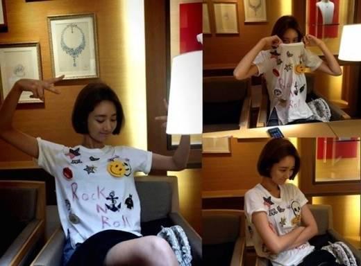 โกจุนฮีโชว์เสื้อยืดที่จินอุนสามีของเธอเป็นคนออกแบบให้เธอด้วยตัวเอง