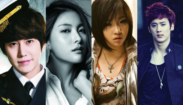 2NE1-Minzy-KARA-Gyuri-Super-Junior-Kyuhyun-TEEN-TOP-Chunji