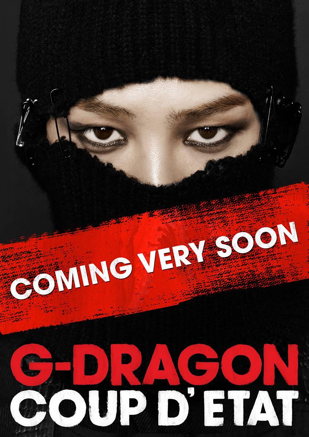 """G-Dragon กำลังจะกลับมาแล้วในเร็วๆนี้พร้อมกับปล่อยภาพทีเซอร์สำหรับ """"Coup D'etat"""""""