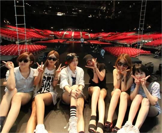 T-ara โชว์ภาพขณะซ้อมคอนเสิร์ตของพวกเธอในฮ่องกง