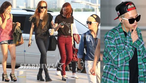 แฟชั่นสนามบินของสาวๆ f(x) และ G-Dragon ขณะเดินทางไปร่วมงานที่ LA สำหรับ KCON 2013