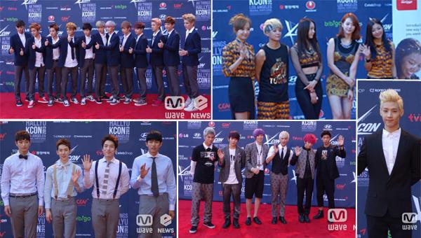 ภาพ EXO, 2AM, Henry,Teen Top และ f(x) เดินพรมแดงที่ LA ในงาน KCON 2013