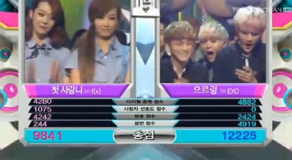 [Live]16/8/2013 ผู้ชนะในรายการ Music Bank ได้แก่...EXO!!! + การแสดงวันนี้