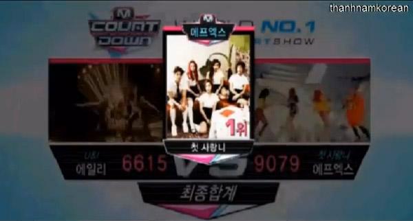 [Live]ผู้ชนะในรายการ M!Countdown Summer Special ได้แก่...f(x)!!! + การแสดงวันนี้