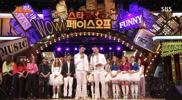 EXO, VIXX, BESTie และฮงจินยองได้อันดับ 1 + การแสดงในรายการพิเศษเทศกาลชูซ็อก 'Star Faceoff'