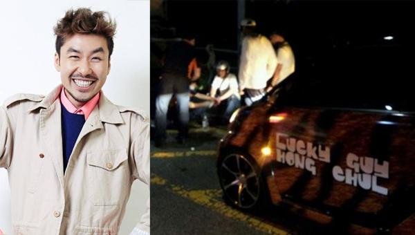โนฮงชอลเกิดอุบัติเหตุทางรถยนต์และไม่ได้รับบาดเจ็บใดๆ