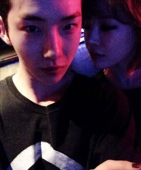 คู่รักอดัมโจควอนและกาอินกลับมาพบกันอีกครั้งในงานปาร์ตี้จัสตินบีเบอร์