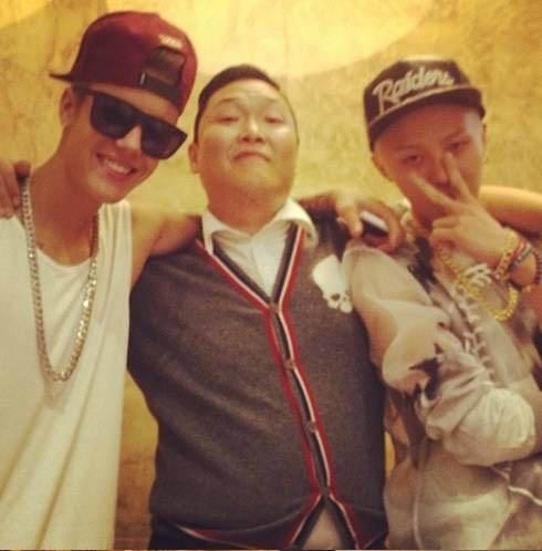 G-Dragon-Psy-Justin Bieber