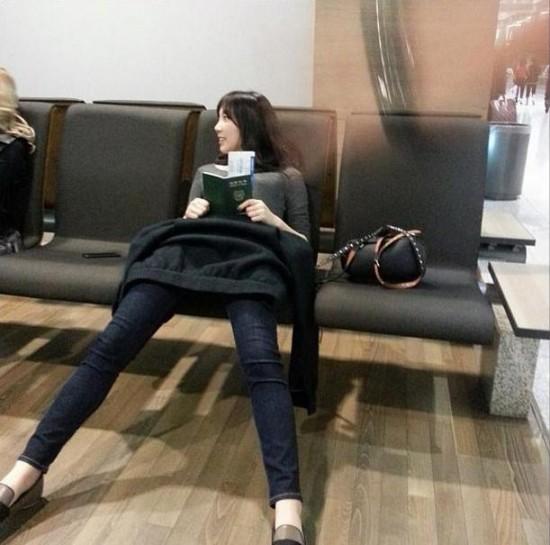 แทยอน SNSD แชร์ภาพขาที่ดูยาวผิดปกติของเธอ