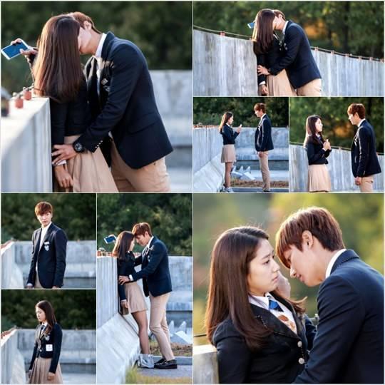 """ฉากจูบแรกของอีมินโฮและพัคชินเฮจากละครเรื่อง """"Heirs"""""""