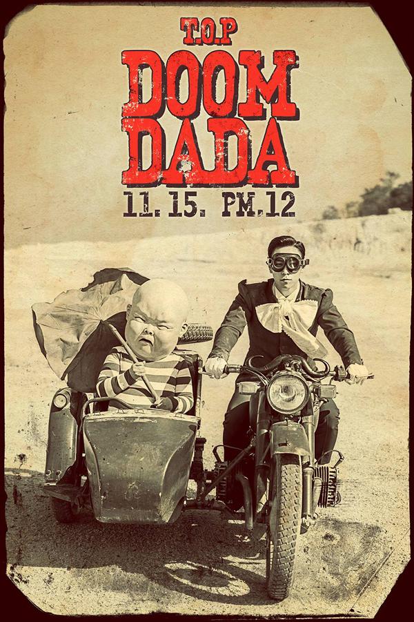 """T.O.P ปล่อยภาพทีเซอร์สำหรับอัลบั้มเดี่ยวของเขาใน """"DOOM DADA"""""""