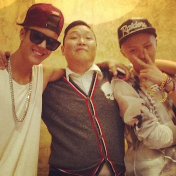 Psy บอกใบ้เกี่ยวกับโปรเจ็คของ G-DRAGON และ Justin Bieber!!