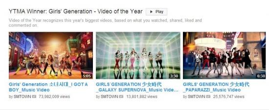 ว้าว!!Girls Generation คว้ารางวัล Video of the Year ใน 'YouTube Music Awards'!