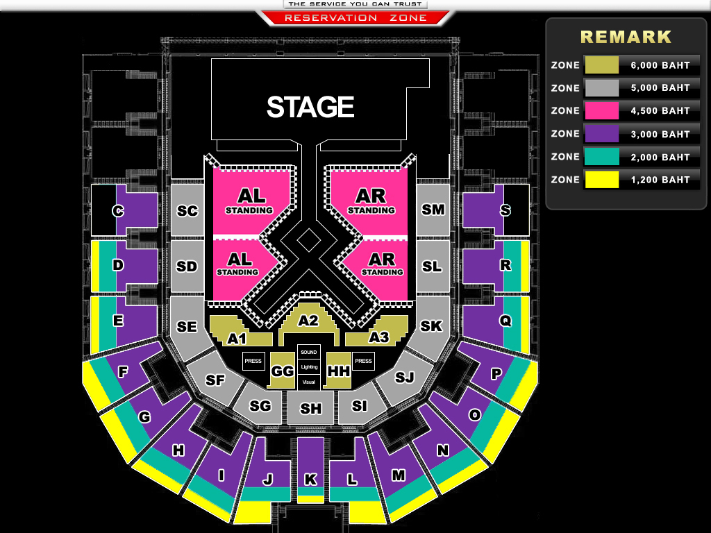 [Seat Plan] GIRLS' GENERATION World Tour ~Girls & Peace~ in BANGKOK
