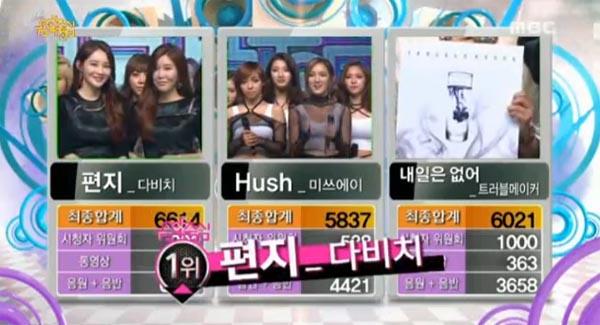 23/11/2013 ผู้ชนะในรายการ Music Core ได้แก่...Davichi!! + การแสดงวันนี้