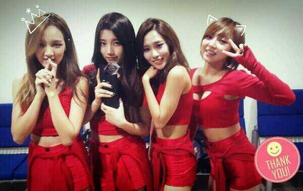 """Miss A ฉลองชัยชนะของพวกเธอจากรายการ Inkigayo ด้วยเพลง """"Hush"""""""