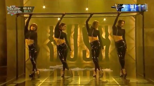 "[Live]Miss A คัมแบ็คด้วยเพลง ""Hush"" บนเวที M!Countdown"