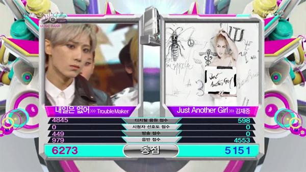 [Live]ผู้ชนะในรายการ Music Bank ได้แก่...Trouble Maker !!! + การแสดงวันนี้