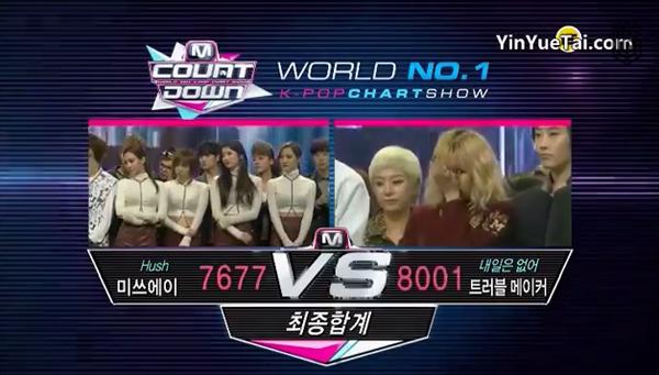 ผู้ชนะในรายการ M!Countdown วันนี้ได้แก่...Trouble Maker!! + การแสดงในวันนี้
