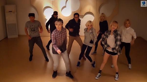 "Trouble Maker ปล่อยวิดีโอซ้อมเต้นของพวกเขาในเพลง ""Now""!!"