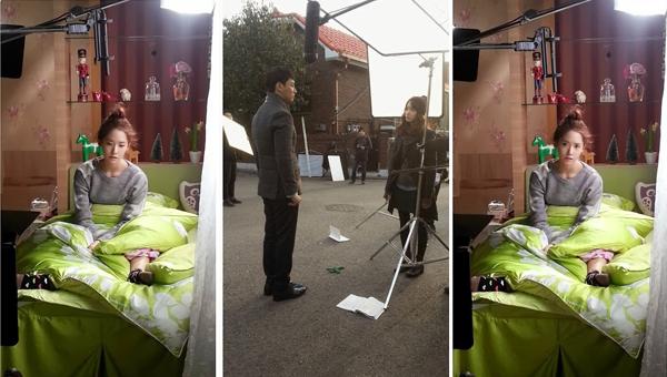 ภาพเบื้องหลังการถ่ายทำของยุนอาจากกองละคร 'The Prime Minister is Dating'