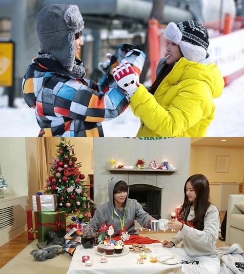 แทมินและนาอึนสวีทหวานระหว่างเล่นสกีด้วยกันในรายการ We Got Married