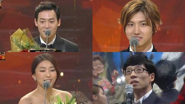 """ชางมิน,โบรา,ยูแจซอก,จอห์นปาร์คและคนอื่นๆได้รับรางวัลในงาน """"2013 KBS Entertainment Awards"""""""
